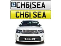 CHELSEA FC cherished private personalised number plate reg. BLUES - CFC CH61SEA