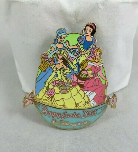 Walt Disney World Pin - Happy Easter 2005 - Princesses - Belle Aurora Cinderella