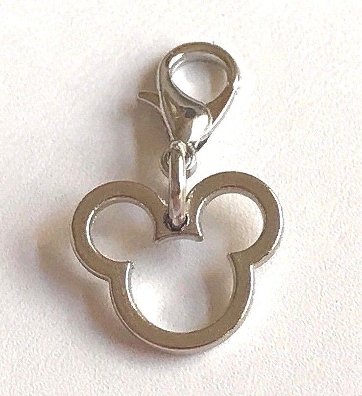 Silver Mickey Mouse Ears Charm Clip On Disney Bracelet Zippe