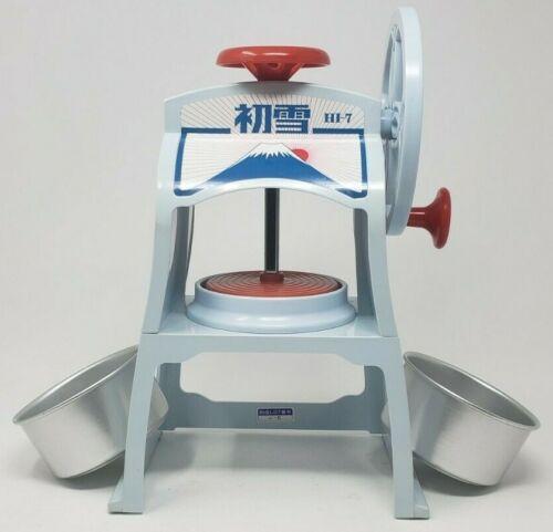 Hatsuyuki Ice Shaver Hi 7 with Bowls Manual Hand Crank