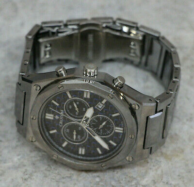 Croton Mens Energique Swiss Quartz Chronograph Carbon Fiber-tungsten Watch