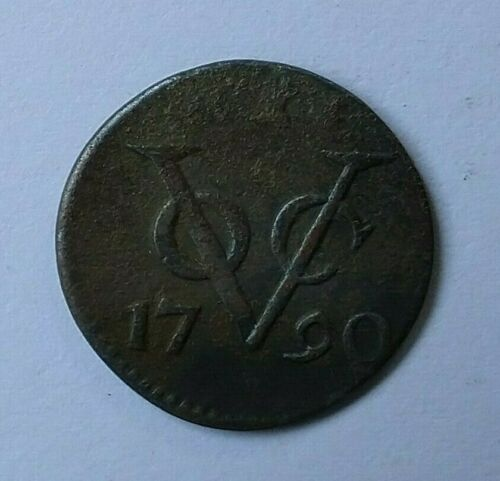 NETHERLANDS EAST INDIES, VOC ZEELAND 1 DUIT 1790 Used in Sri Lanka (Ceylon)