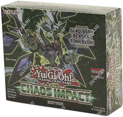 Yugioh Chaos Impact Booster Box New Sealed 1st Edition