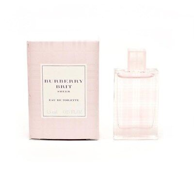 BURBERRY BRIT SHEER 4.5 ml EDT eau de toilette Women's Splash Mini Perfume NIB