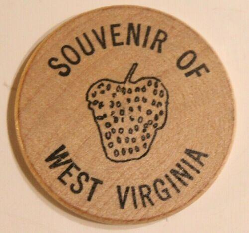 Vintage Souvenir Of West Virginia Wooden Nickel