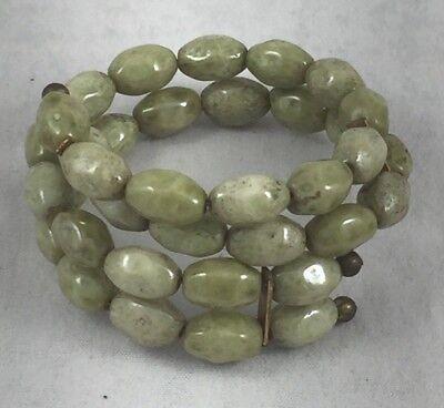(Irish Connemara Marble Wrap Double Strand Beaded Bracelet)