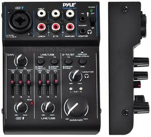 New - PYLE QUALITY PAD30MXUBT BLUETOOTH AUDIO MIXER - Easily Mix in tunes from many Portable Devices!