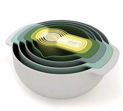 Joseph Joseph Nest 9 Plus Nesting Bowl Set, Opal, 9 Piece