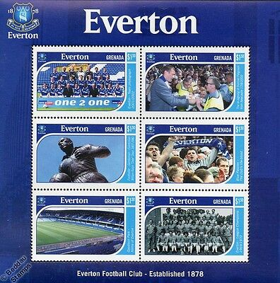 EVERTON Football Club Stamp Sheet (Goodison Park/Dixie Dean/Duncan Ferguson)