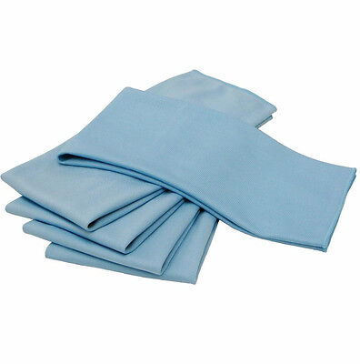 12 BLUE DIAMOND WEAVE MICROFIBER LENSE/  GLASS CLEANING LINT FREE TOWELS 16X16