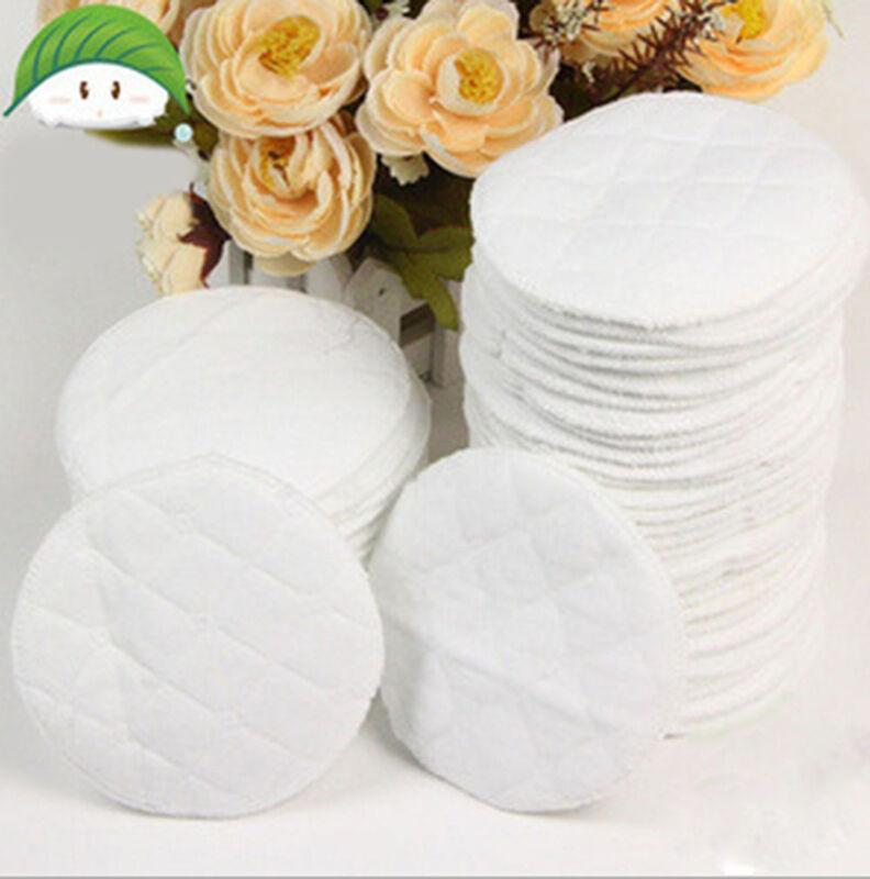 20x Bamboo Reusable Breast Pads.Nursing Waterproof Organic Plain Washable PPLTC