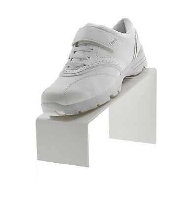 White Acrylic Slanted Shoe Stand Holder Display 9l X 4w X 5h