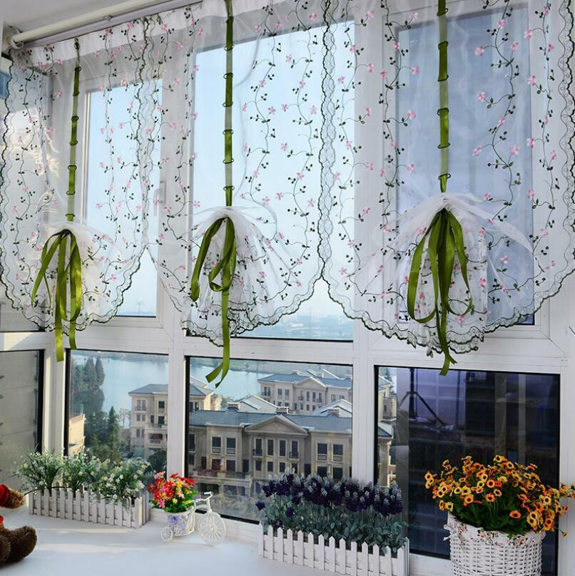 Window Curtains For Living Room Floral Sheer Tulle For Bedroom Modern Drapes Ebay