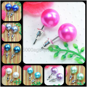 Wholesale-20-40-60-Pairs-10mm-bead-faux-pearl-stud-earrings-studs-10-color