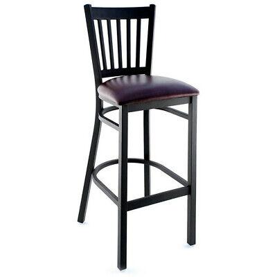 Wholesale Price Commercial Restaurant Vertical Slat Back Metal Bar-stool