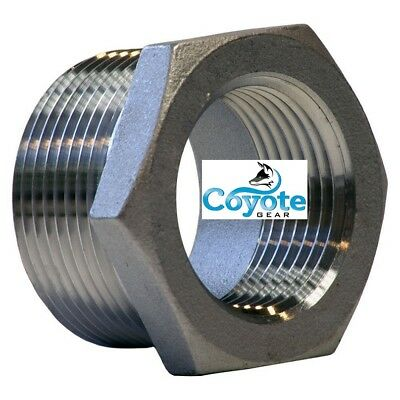 316 Stainless 1 Male X 34 Female Npt Hex Reducer Bushing Ss Coyote Gear 304