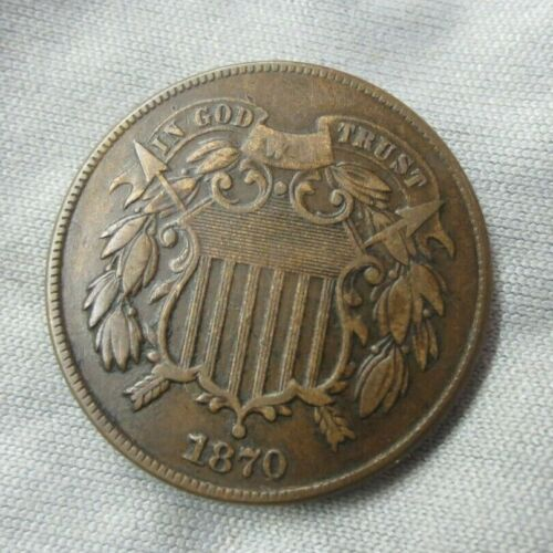 1870 Two Cent Piece VF+