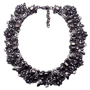 Necklace - Black & Silver Chunky Style Eden Hill Bassendean Area Preview