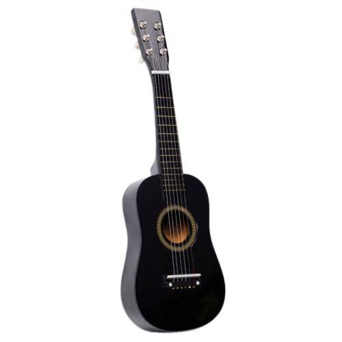 "23"" Acoustic Guitar Wooden Beginner Pratical Black Small Gui"