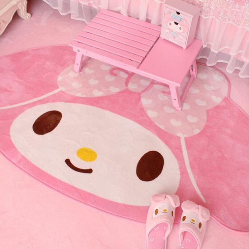 Cute My Melody Soft Rugs Carpet Children Girl Bedroom Crawling Floor Mat 1x1.6M