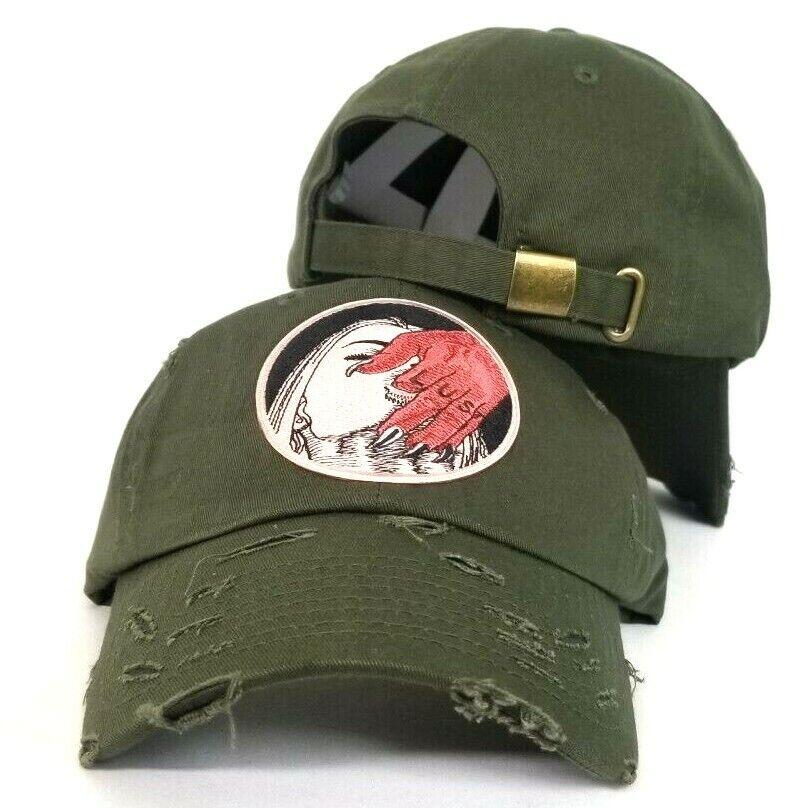 Camouflage Field Grade ROSE GUN Dad Strapback Snapback Hat Cap ARMY Green