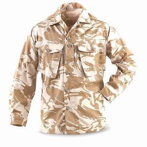 Genuine UK Surplus British Military Desert DPM Camo Uniform Shirt Small Short