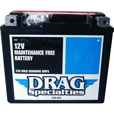 Drag Specialties AGM 12V 18Ah 310CCA Battery 91-19 Harley Softail FXD UTV 20HL