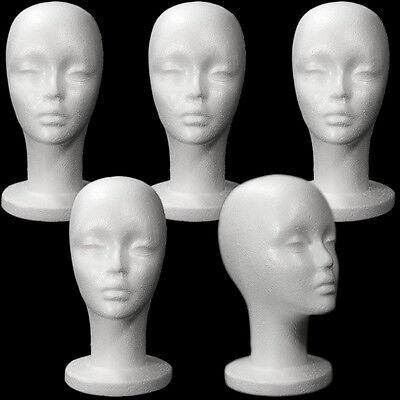 Less Than Perfect Mn-433-ltp 5 Pcs Female Styrofoam Mannequin Head W Long Neck