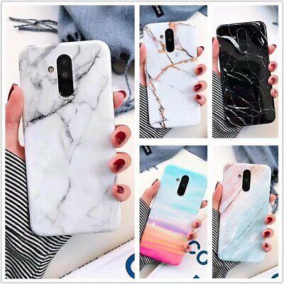 Marble Case Samsung Galaxy A50 A30 A20 Rubber Cover Galaxy S7 Edge S8 S9 S10 +