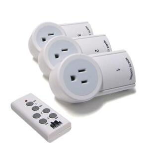 3 Pack Indoor Wireless Remote Control Electric AC Power Outlet Switch Socket