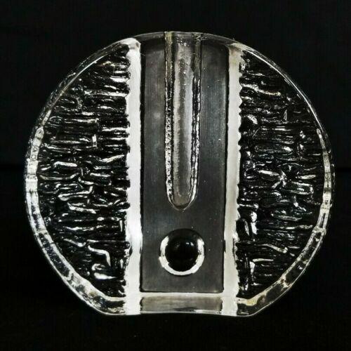 VTG 1960s MCM Clear Art Glass Walther Design Germany Solifleur Pukeberg Bud Vase