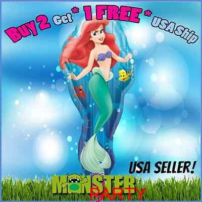 Ariel Balloons (Little Mermaid Princess Ariel Girl Birthday Party Foil Balloon for all)