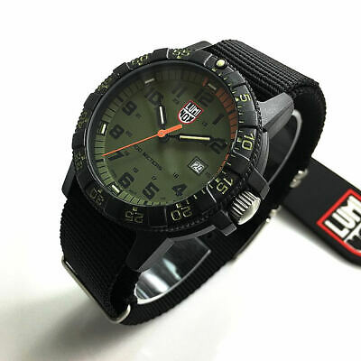 Men's Luminox Leatherback Sea Turtle Giant Nylon Strap Watch 0337