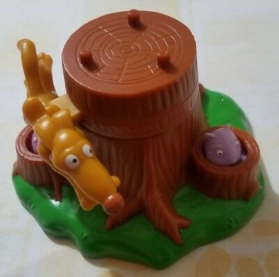 BURGER KING TOY RUGRATS 2000 SPIKE DOG GOPHER #1 TOWERING TREEHOUSE CLUBHOUSE