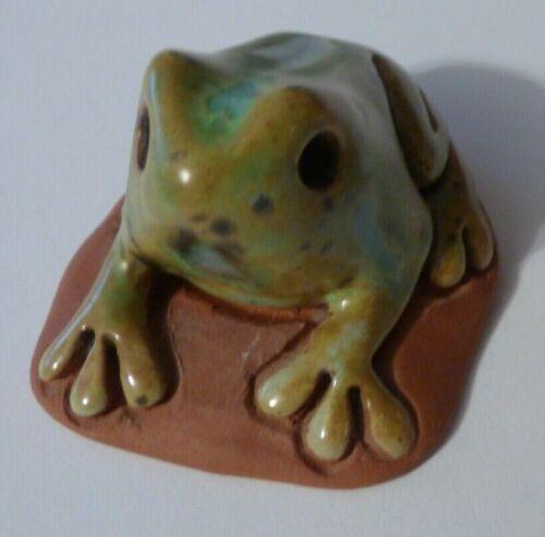 Puerto Rico Vintage Handmade Clay Frog Figurine