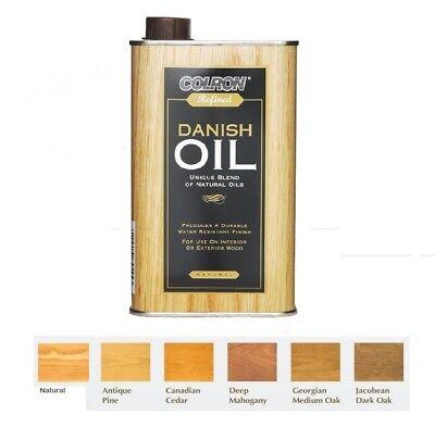 NEW Colron - Refined Interior & Exterior Wood Danish Oil - 6 Colours - 500ML