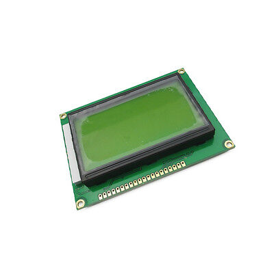 1pcs New St7920 5v 12864 128x64 Dots Graphic Lcd Yellow Green Backlight