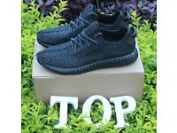 New Adidas Black Yeezy 350 BOOST