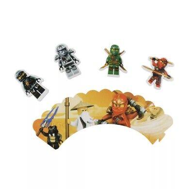 Cupcake Topper und Manchetten Lego Ninjago für 12 Cupcakes