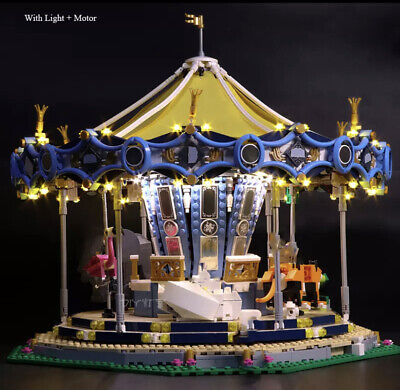 Carousel with Motor AND Light compatible with LEGO 10257