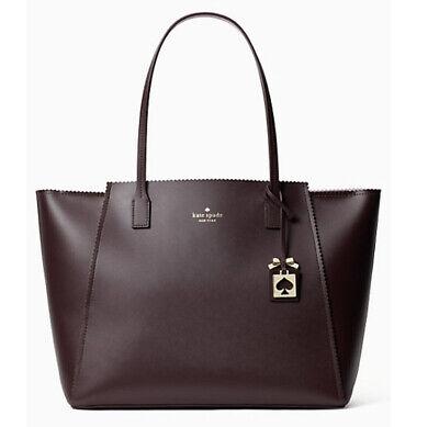 😍Kate Spade Turner Road Large Loryn Tote laptop bag Chocolate Cherry satchel