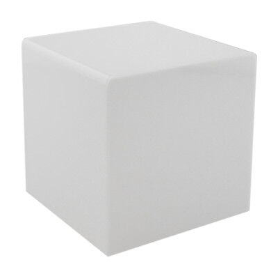 White 6 Jewelry Cube Riser Display Box 5 Sided Acrylic