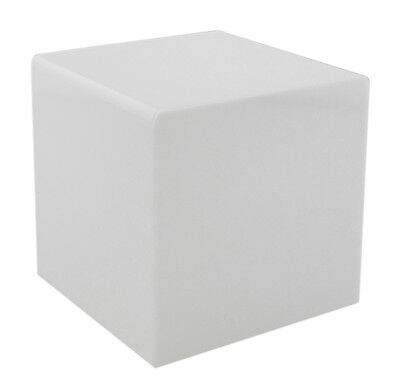 White 8 Jewelry Cube Riser Display Box 5 Sided Acrylic