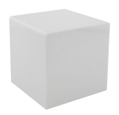 White 8 Jewelry Cube Riser Display Box 5 Sided Acrylic
