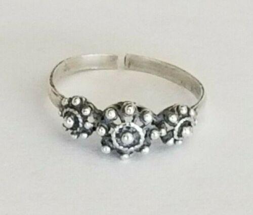 Vintage Sterling Silver Textured Riveted Ring - Sz 5.75 - Split Shank