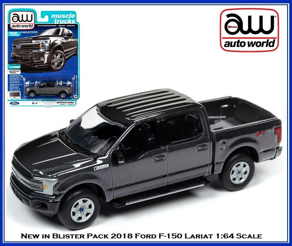 Auto World New  '18 Ford F-150 Lariat Pick Up Truck 1:64 Scale Diecast Car