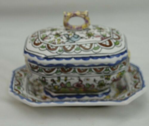 Berardos Pintado A Mao Portugal Sec XVII Small Covered Sauce Dish Underplate