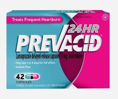 Prevacid 24HR Heartburn Treatment - 42 Capsules Exp. 9/22