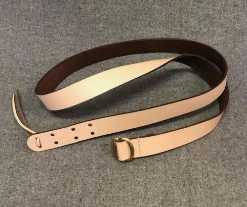 Flintlock Musket Sling With Brass Buckle - Natural Color - For Flintlock Musket