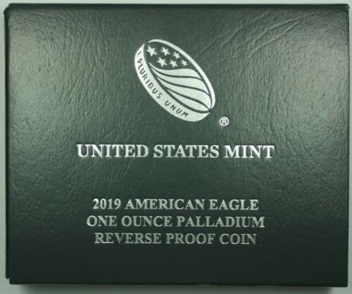 2019 US Mint 1oz Palladium Reverse Proof Coin In OGP W/ COA *Low Mintage*
